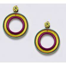 Purple & Gold Hoops