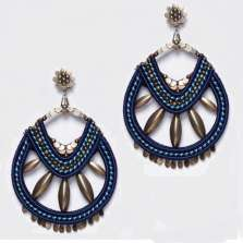 Navy and Grey Earrings