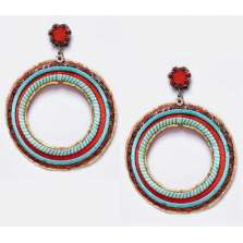 Red & Sky Blue Hoops (Large)