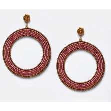 Pink Blends Hoop Earrings (Large)