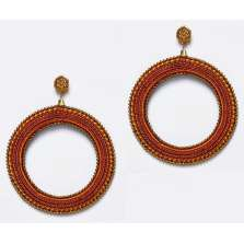 Orange and Bronze Hoops