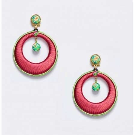 Pink and Green Hoops