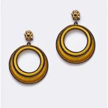 Small Hoops in Ochre