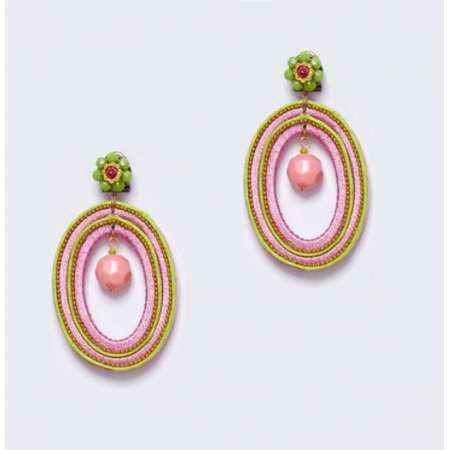 Lime Green and Pink Ovals