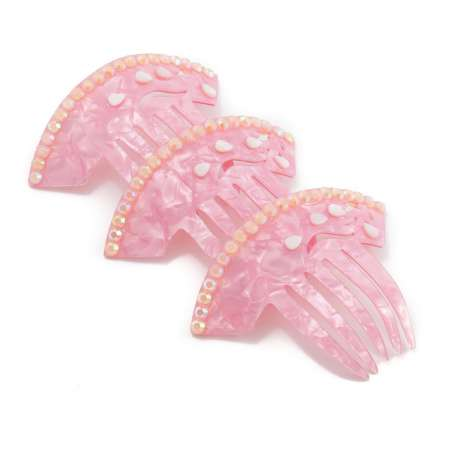 Mother of Pearl Mini Comb in Soft Pink