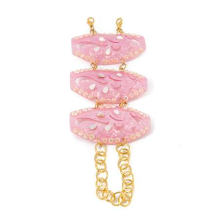 Pink Lady: Mother of Pearl Bracelet