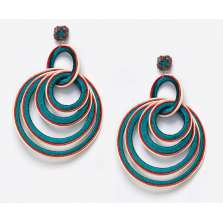 Interlocking Hoops in Aquamarine