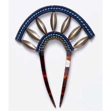 Deep Blue Prong Hair Comb