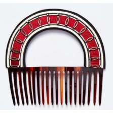 Oriental Red Hair Comb