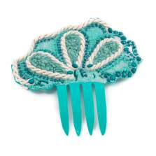 Aquamarine Gemstone Hair Comb