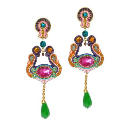 Drops of Emerald Earrings