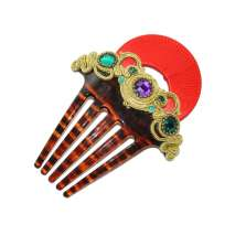 Red Hoop Hair Comb
