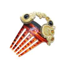Black Hoop Hair Comb